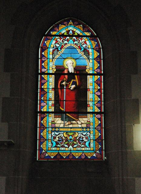 A window in the chapel