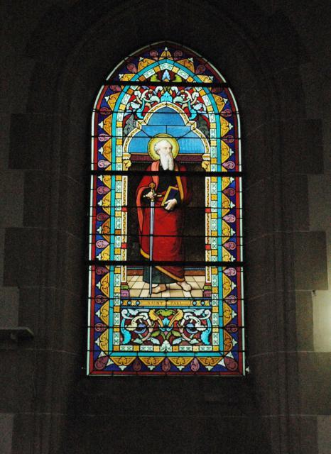 A window in the chapel