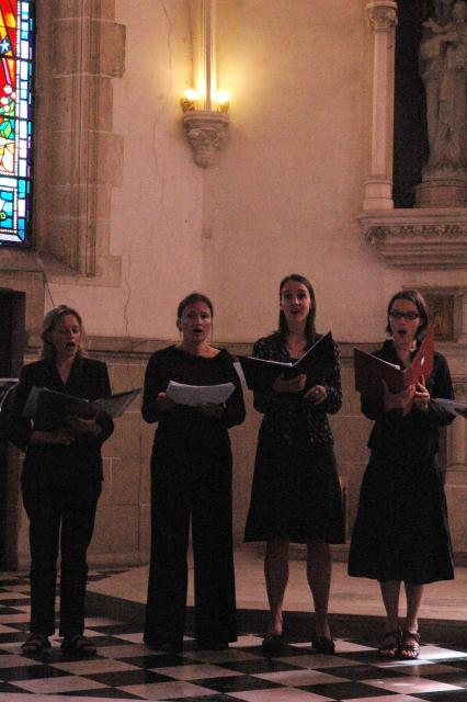 The choir during the concert
